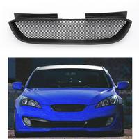 Areyourshop New Front Hood Mesh Grille Bumper Grill for Hyundai 2009 2011 Genesis Coupe Front Upper Grille Car Accessories Parts