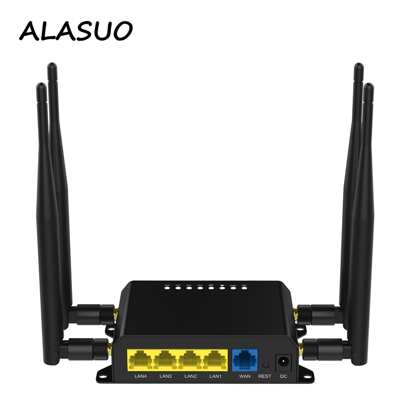 300Mbps 4G Router Wifi With SIM Card Slot USB 4 x 5dBi Antennas Home Office Outdoor Portable Wireless Wi fi Router Access Point