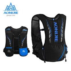 AONIJIE C9102 Schwarz Ultra Weste 5L Trink Rucksack Pack Tasche Weiche Wasser Blase Glaskolben Wandern Trail Running Marathon