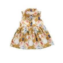 Aa/летние платья для малышей Повседневная одежда маленьких девочек