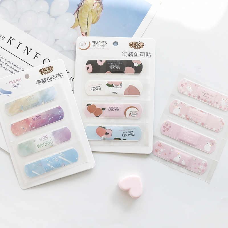 1 Sheet Leuke Kids Ehbo Band Bandages Emergency Kit Cactus Perzik Lijm Bandage Waterdichte Wond Gips Kits
