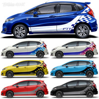 Car stickers For Honda GK5 JAZZ FIT car stickers pull flowers GK5 JAZZ FIT body decoration modified car stickers