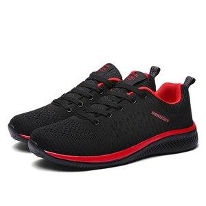 Image 1 - Tênis malha masculino, novo estilo, casual, masculino, lace up, leve, respirável, tamanhos 38 45