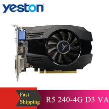 Yeston R5 240 - 4G D3 VA Graphic Card DirectX 11 Video Card 4GB/64bit 1333MHz Low Power Consumption GPU 2 Phase Graphic Card