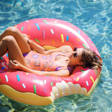 Summer Seat Ring Toy Buoy Mattress Thickened Summer Float Toy Circle Outdoor Activities Inflatable Donut Swimming Ring Pool