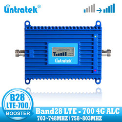 Lintratek 4G Lte 700 Mhz Band 28 Mobiele Mobiele Telefoon Signaal Versterker Repeater Cellulaire Signaal Booster B28 Internet Repeater
