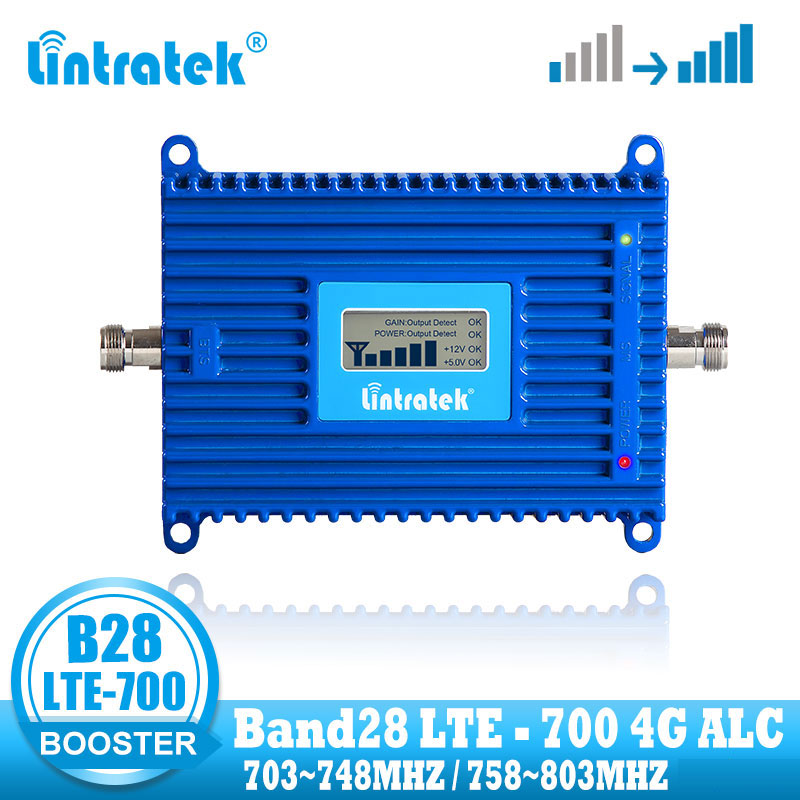 Lintratek <font><b>4G</b></font> LTE 700 mhz Band 28 mobile handy signal verstärker repeater cellular signal booster B28 internet repeater image