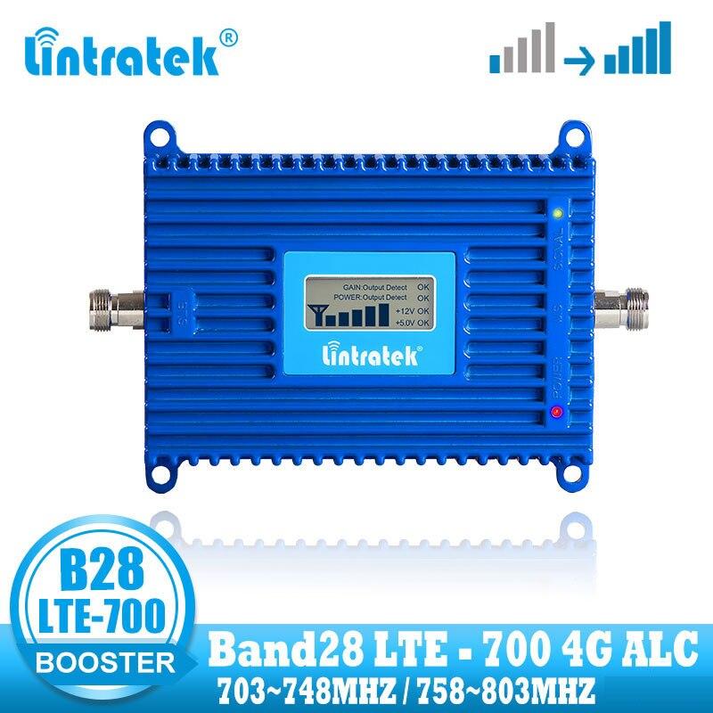 Усилитель сигнала мобильного телефона lintratek, 4G LTE, 700 МГц, полоса 28