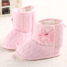 цена на 0-18 months baby cotton Knitted boots Baby Fur Warm Boots Baby Toddler Soft Sole Ankle boots Snow Boots Hook Loop Design D40