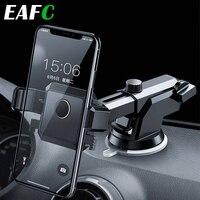 Soporte Universal para teléfono móvil de coche, ventosa Vertical para parabrisas, abatible, retráctil y giratorio