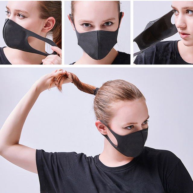3pcs 3D MASK Pm2.5 Women Men Kids Face Mouth Mask protection For Dustproof Anti-pollution kpop Masks Reusable Wholesale 4