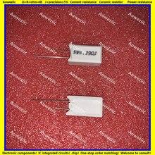 10Pcs RX27-5 Vertical 5W 0.39 ohm de Resistência do Cimento 0.39R 0.39RJ 5WR39J 5W0R39J 5W R39J Cerâmica Resistência precisão 5%