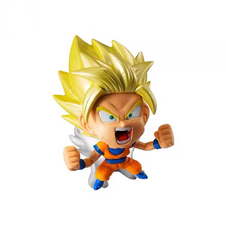 Originele Bandai Dragon Ball Super Heroes Gashapon Zoon Goku Frieza Gogeta Mini Figur Set Pvc Model Beeldje Speelgoed