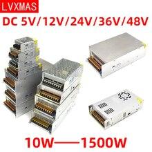 LVXMAS постоянного тока 5В/12В/24В/36В/48В освещение трансформатор питания 10 Вт-1500 Вт адаптер привод Сид свет для бара