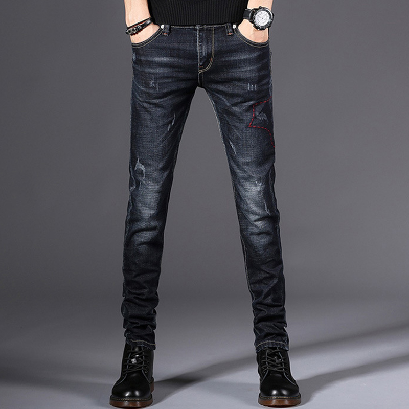 2020 New High-quality Casual Slim Men Jeans Elastic Male Pencil Pants Slim Jeans Many Choices High Quality Student Young Jeans