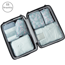 New 6PCS/Set High Quality Cloth Waterproof Travel Mesh Bag In Luggage Organizer Packing Cube For Home Accessories