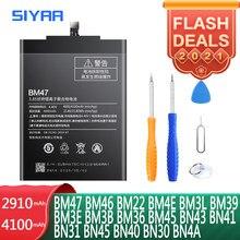 Bateria SIYAA BM47 BN43 BN41 BM46 BM22 BN31 BM4E BN40 BM3L BM39 BN45 BN30 BM36 BM3E BM3B BN4A BM45 Para Xiaomi Replacment Bateria