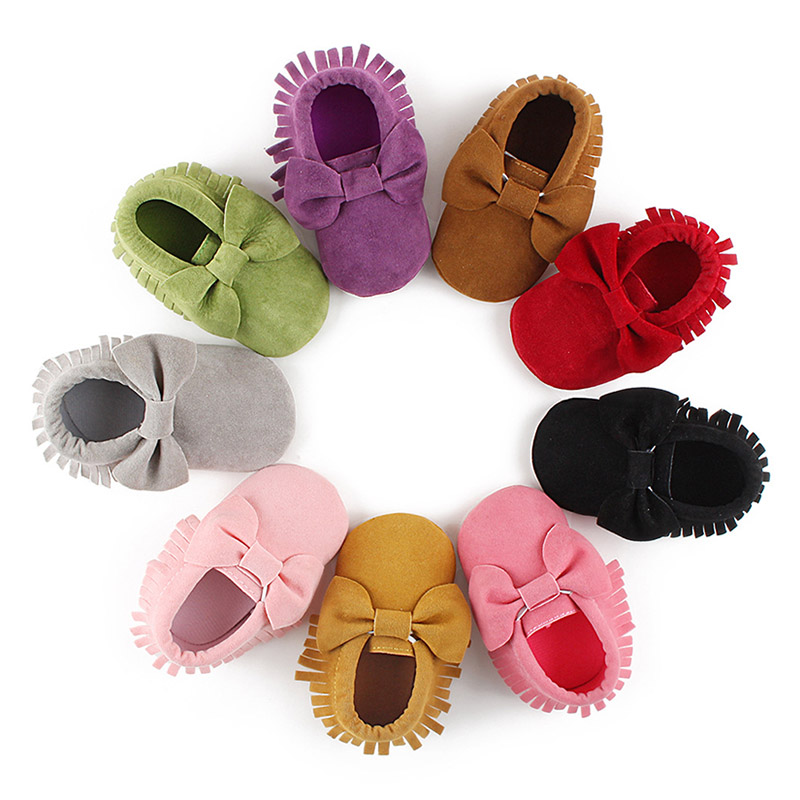 Baby Girls Shoes Newborn First Walkers Baby Moccasins Baby Boys Girls Fringe Soft Soled Non-slip Footwear Shoes For Toddler