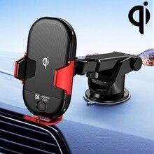 Joyroom 자동차 전화 홀더 스탠드 2 1 자동차 에어 벤트 악기 콘솔 지능형 무선 충전 브래킷