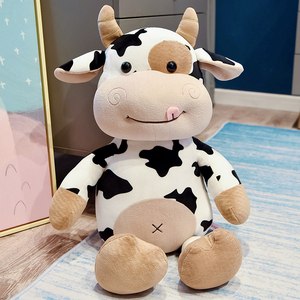 2020 New Cute Animal Cartoon Cows Stuffed Plush Toy Kawaii Cattle Comfortable Soft Toy Children Birthday Present Christmas Gift
