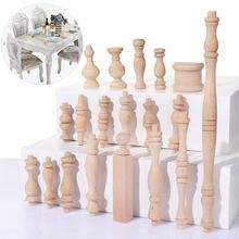 1pc estilo europeu de borracha do vintage madeira maciça esculpida móveis pé pernas escultura gabinete assento feets decoração para casa artesanato acessório