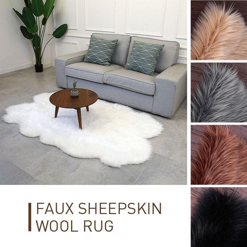 Tapis en laine forme irrégulière accueil luxueux tapis sol moelleux tapis 180X110cm multicolore salle à manger chambre canapé tapis