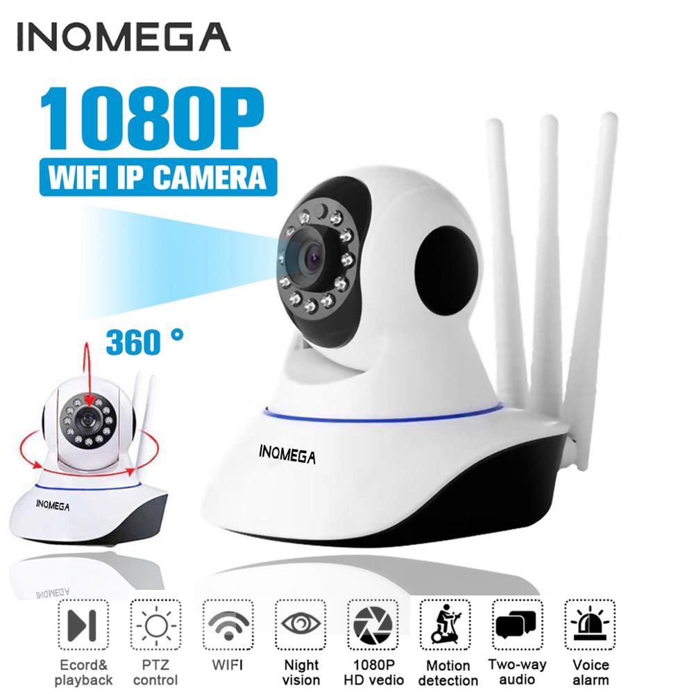 INQMEGA HD 1080P Wireless WIFI IP Camera Home Indoor Security Monitor Smart Network Video System Two Way Audio / Night Vision wrench
