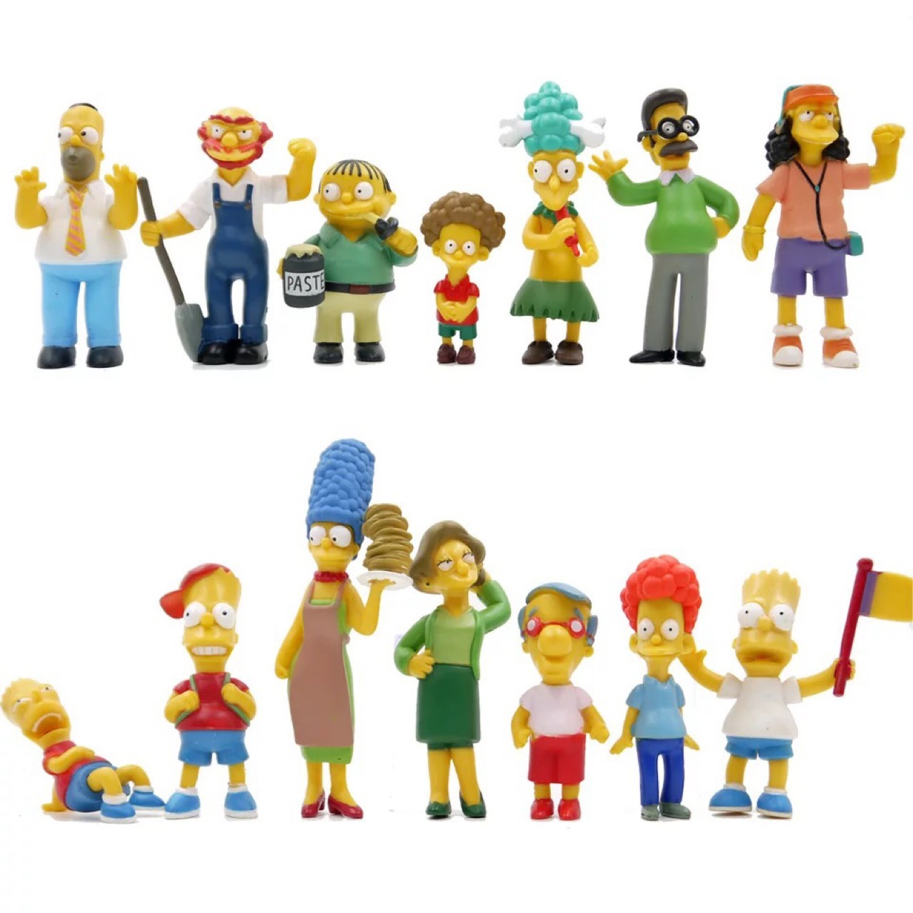 14pcs/set Simpsons Cartoon The Arsene Family Cake Decoration Model Children's Toys