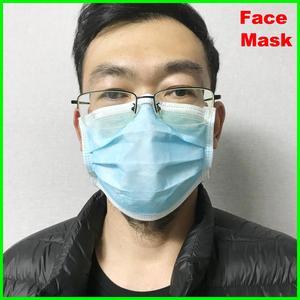 Image 1 - 20 قطعة/الوحدة قناع وجه طبي 4 طبقة تصفية غير المنسوجة المتاح مطاطا الفم لينة تنفس انفلونزا النظافة الوجه مع CE