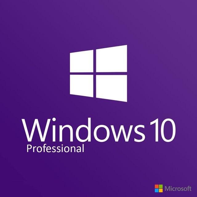 Microsoft Windows 10 Pro COA 32 bit/64 bit ürün anahtar kart İngilizce evrensel sürüm bilgisayar yazılımı için win 10 Pro