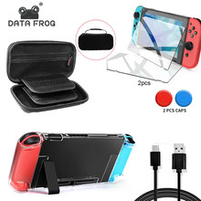 DATA FROG Detachable Crystal Transparent Protective Case For Nintendo Switch Hard Clear Back Cover For Nintendo Switch NS NX