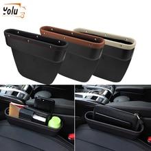YOLU Storage Box Car Organizer Seat Gap PU Leather Case Pocket Side Slit for Wallet Phone Coins Cigarette Keys Card
