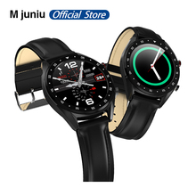 "L7 L8 Bluetooth חכם שעון לגברים אק""ג + Ppg Hrv קצב לב צג לחץ דם Ip68 עמיד למים Smartwatch אנדרואיד ios"
