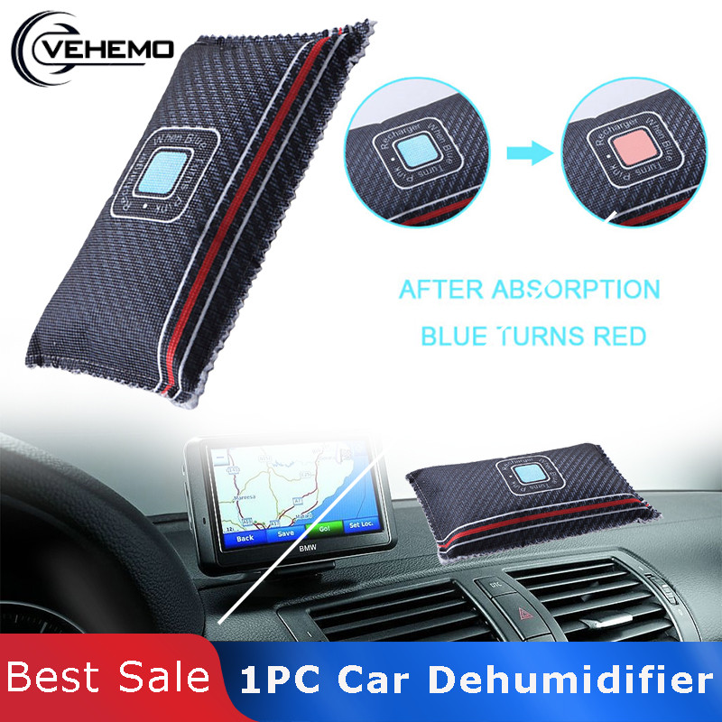 Vehemo Universal 1pc Non-Toxic Silica Gel Desiccant Car Dehumidifier Kitchen Room Moisture Damp Absorber Dehumidifiers Recycle