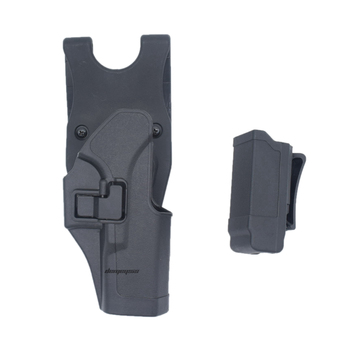 Right Hand Tactical Combat Holster Outdoor Hunting Shooting Hoslter Mag Pouches Military Airsoft Holster Glock 17 19 22 23 31 32