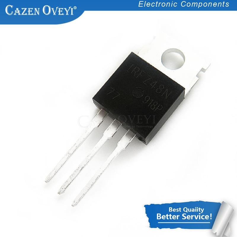 10 unids//lote IRFZ48N to220 transistor de potencia transistor de efecto de campo irfz48 TO-220 transistor original transistores mosfet darlington