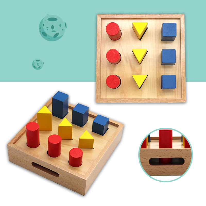 Kids Wooden Puzzles Toys Memory Match Stick Chess Game Fun Puzzle Board Game Educational Color Cognitive Geometric shape Toys 2