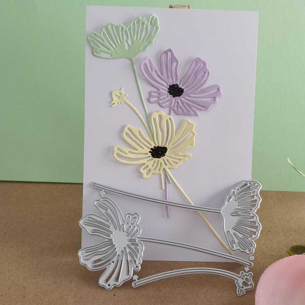 Lacy Poppies Lotus Metal Cutting Dies Stencils for DIY Scrapbooking Album Stamp Paper Card Embossing New  Die Cut