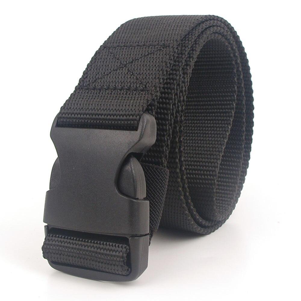 Black Canvas Belt For Women Belts Cummerbunds Casual 2019 Waistband 120cm Waist Belt With Plastic Buckle Streetwear