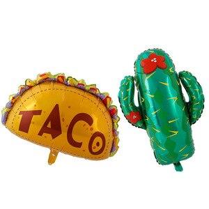 Image 2 - Meksykańskie balony na imprezę dekoracje świąteczne dostawy Party TACO około miłość Party Fiesta kaktus hel balony foliowe TacoTwosday