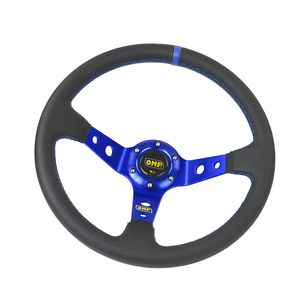 Image 3 - 14inch 350MM OMP Steering Wheel PVC Leather Steering Wheel OMP Steering Wheels Deep Corn Dish Wholesale PQY SW22-in Steering Wheels & Steering Wheel Hubs from Automobiles & Motorcycles