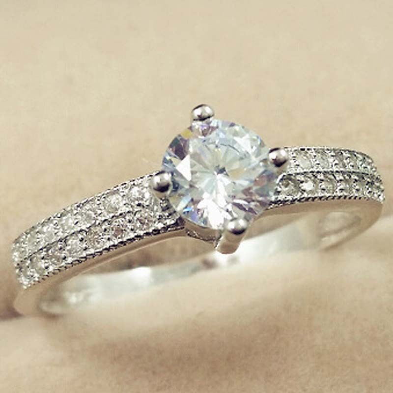 925 Silver Color SL1 Diamond Ring For Women Anillos Bizuteria Wedding 925 Jewelry Gemstone Luxury Sparkling Cirle Jewelry Rings