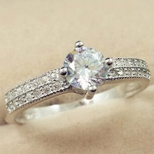 925 Silver Color SL1 Diamond Ring for Women Anillos Bizuteria Wedding 925 Jewelry Gemstone Luxury Sparkling Cirle Jewelry Rings rose gold color lab diamond ring for women luxury anillos wedding bizuteria fashion jewelry gemstone white topaz 925 silver ring