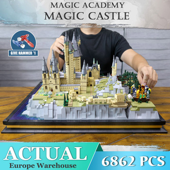 Mould King Movie Castle Compatible with 16060 Magic School of Witchcraft and Wizardry Model Building Blocks Kid Christmas Gift image