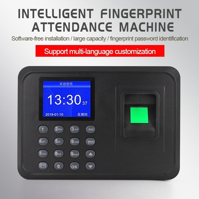 Intelligent Fingerprint Attendance Machine Password Attendance Machine Chinese And English Commute Punch Card Machine Multi-lang