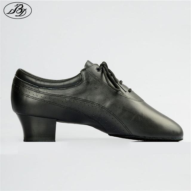 Hot Sale Men Latin Dance Shoes 424 Split Outsole Soft Leather Professional Dancesport  Shoe Elastic Heel Ballroom Dancing Shoe