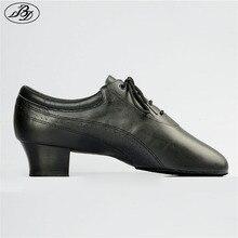 Sıcak satış erkekler Latin dans ayakkabıları 424 bölünmüş taban yumuşak deri profesyonel Dancesport ayakkabı elastik topuk balo salonu dans ayakkabısı