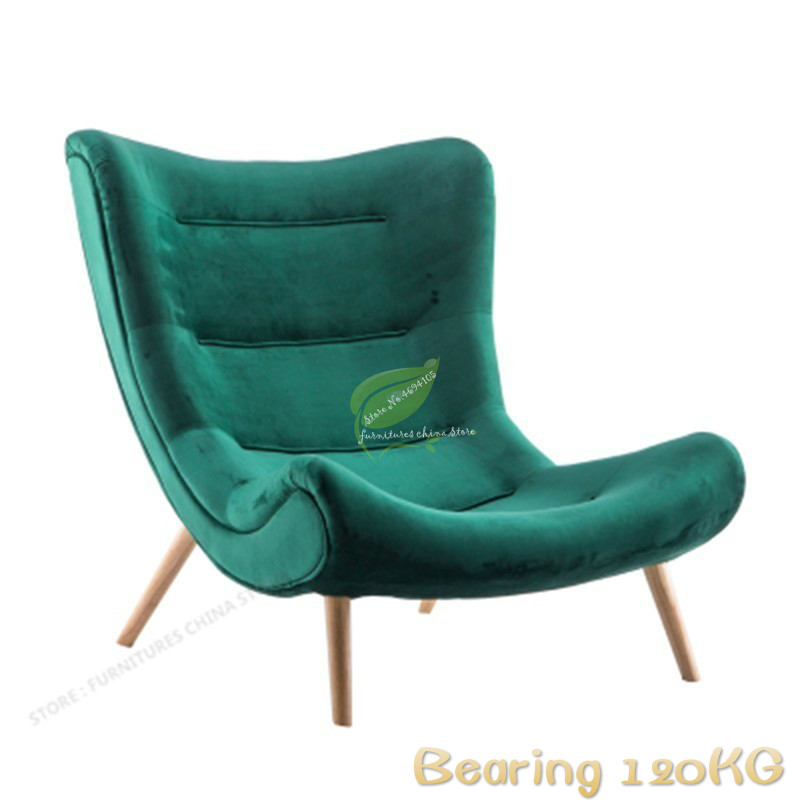 European Style Leisure Snail Chair Nordic Fabric Single Sofa Tiger Chair Bedroom Balcony Lazy Lounge Chair Bearing 120KG