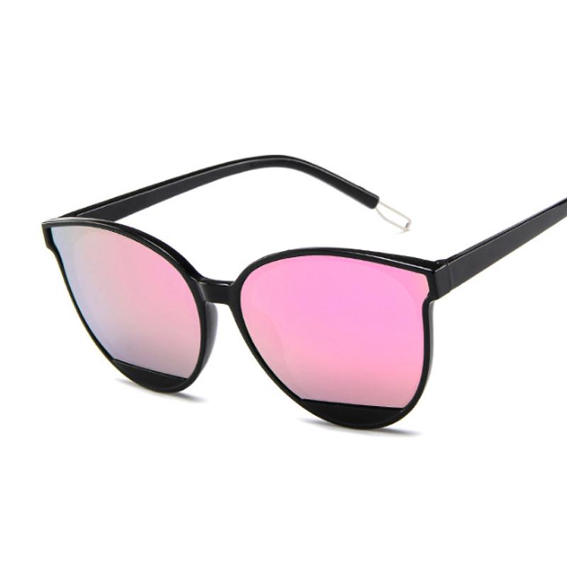 New Retro Sexy Mirror Sunglasses Women Brand Designer Luxury Vintage Cat Eye Black Sun Glasses Female Ladies UV400 Oculos