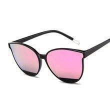 Очки солнцезащитные женские зеркальные в стиле ретро, пикантные брендовые дизайнерские Роскошные винтажные солнечные очки «кошачий глаз»,...